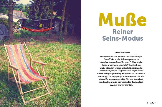 moment by moment 02/2017: Selbstmitgefühl - Artikelvorschau Stefan Schmidt: Muße