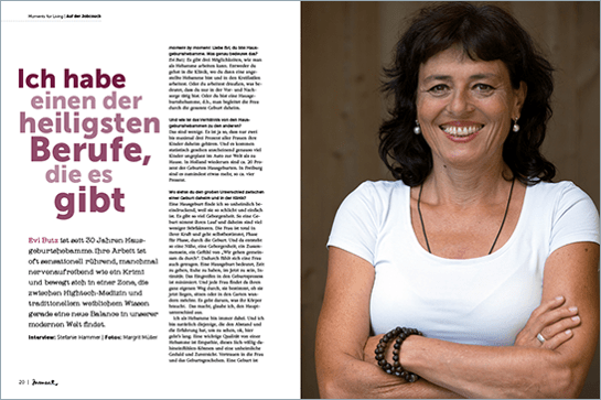 moment by moment 3/2017: Mindful Business - Interview mit Hebamme Evi Butz