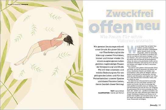 moment by moment 03/2017: Mindful Business - Artikelvorschau Sylvia Wetzel: Raum für neue Visionen