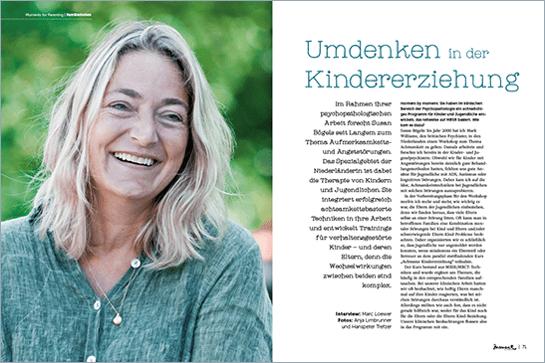 moment by moment 03/2017: Mindful Business - Artikelvorschau Susan Bögels Umdenken in der Kindererziehung