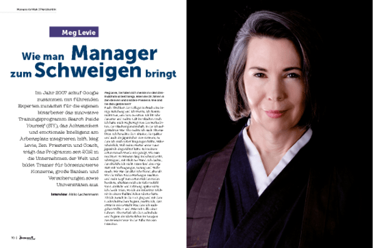 moment by moment 02/2019 Interview-Special - Artikel Meg Levie