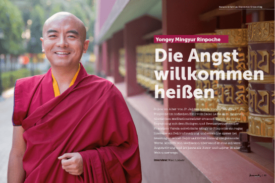moment by moment 02/2019 Interview-Special Artikelvorschau Yongey Mingyur Rinpoche: Die Angst willkomen heißen