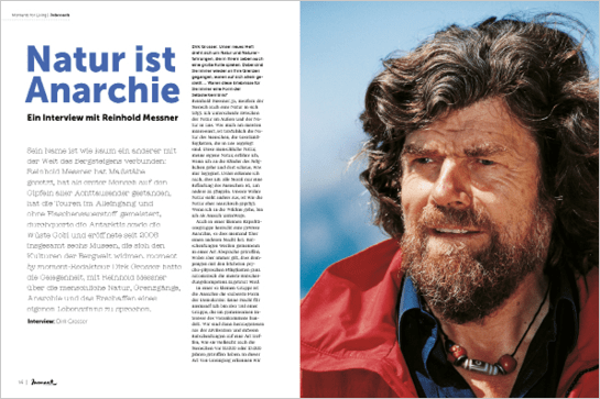 moment by moment 02/2018 Reinhold Messner Natur ist Anarchie