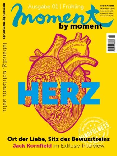 moment by moment 01/2018 Cover - Das Herz als Organ, Ort der Liebe und Sitz des Bewusstseins
