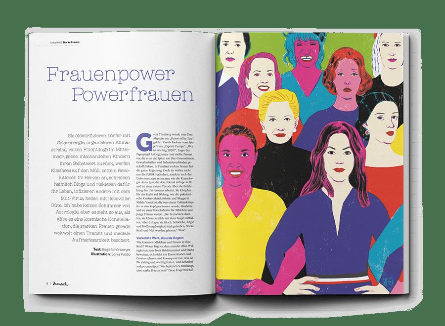 moment by moment 01/2020 Starke Frauen Leitartikel Frauenpower