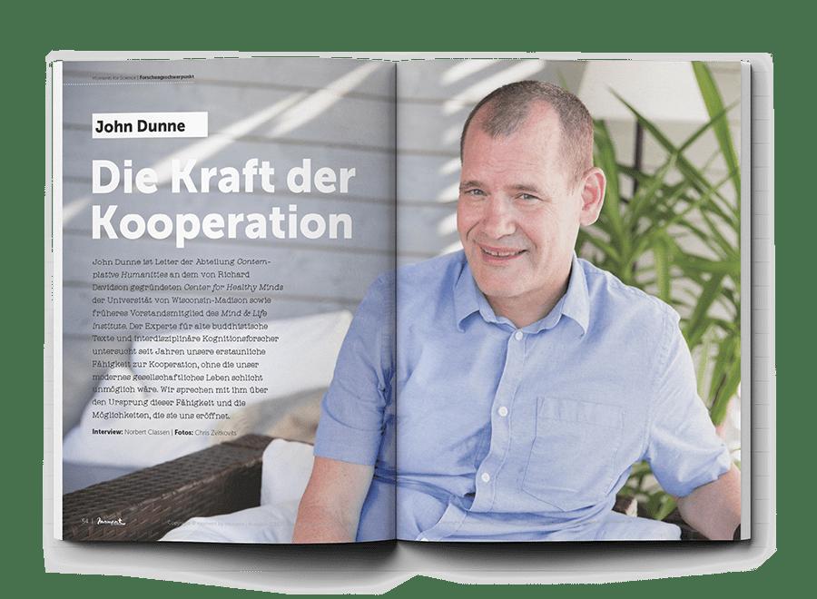 moment by moment 02/2020 Vorschau Interview John Dunne Die Kraft der Kooperation