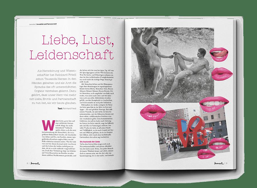 moment by moment 03/2020 Slow Sex Leitartikel Libe, Lust und Leidenschaftr