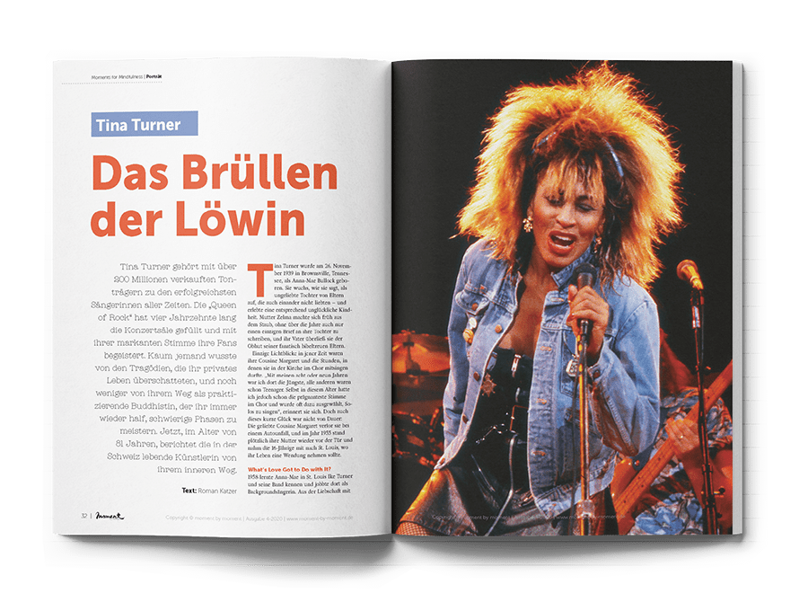 moment by moment 04/2020: Trauma und Transformation - Artikelvorschau Tina Turner