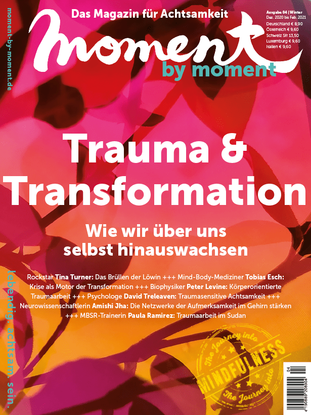 Cover moment by moment 04/20 Trauma und Transformation