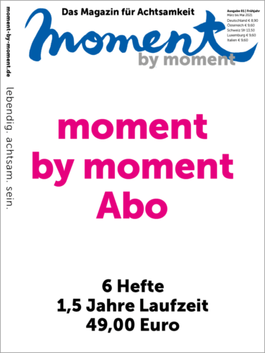 Cover und Informationen zummoment by moment Abo