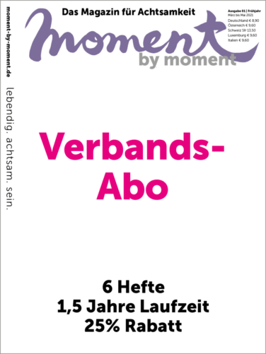 Cover und Informationen zum moment by moment Verbands-Abo