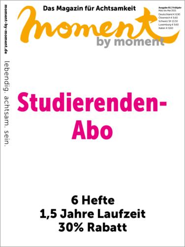 Cover und Informationen zum moment by moment Studierenden-Abo