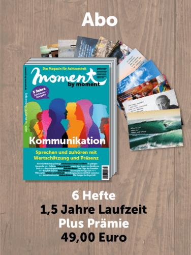 Produktbild moment by moment Abo